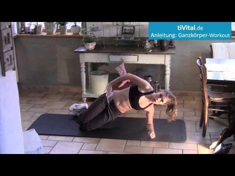 Anleitung Ganzkörper Training für zu Hause in 15 Minuten