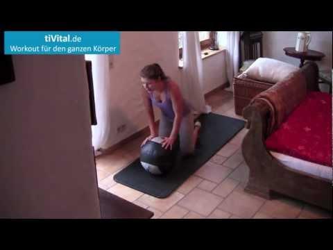 Medizinball-Ganzkörper Workout in 15 Minuten