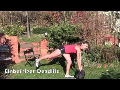 Anleitung Schulter-, Beine- und Po-Übungen für zu Hause