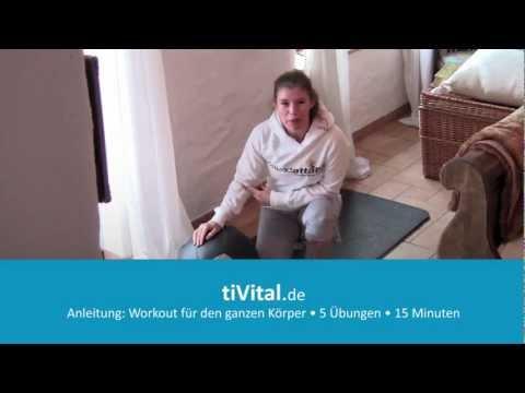 Anleitung Medizinball-Ganzkörper Workout in 15 Minuten