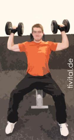 Schulterdrücken sitzend Ausführung Start
