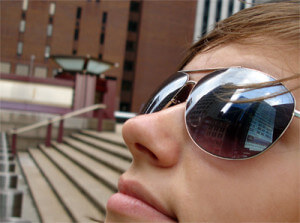 Spiegelung in Sonnenbrille