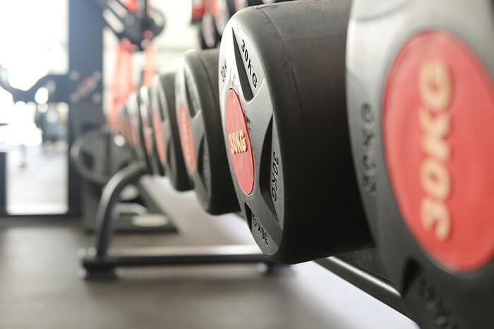 Fitnessstudio Hanteln